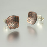 Copper Texture Domed Stud