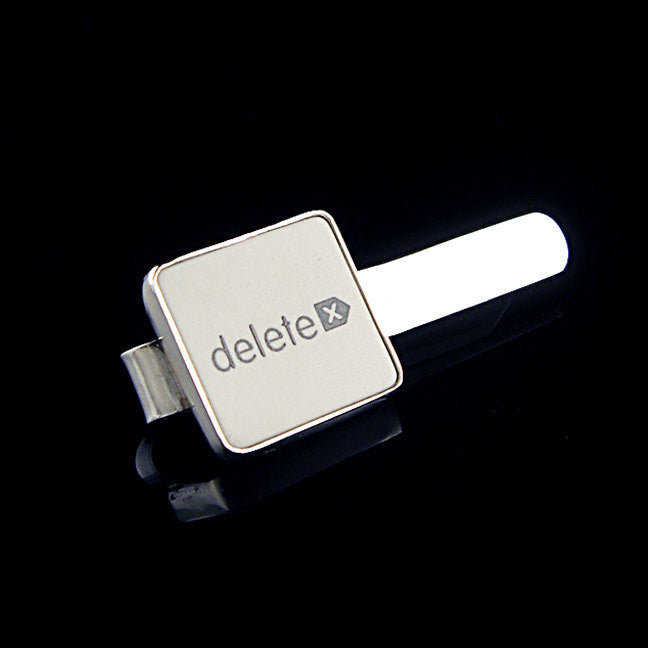 Square Delete Key Tie Bar