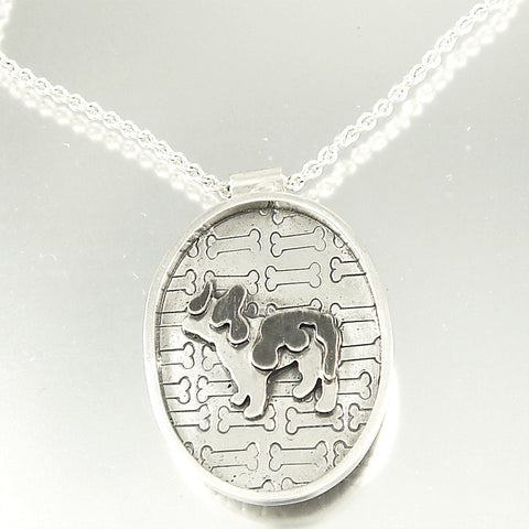 I Love My Schnauzer Necklace