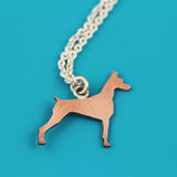 Doberman Pinscher Copper Pendant