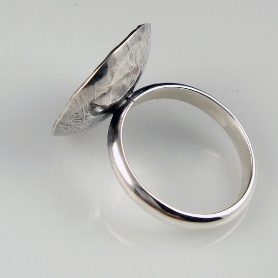 Textured Shallow Bowl Dome Ring