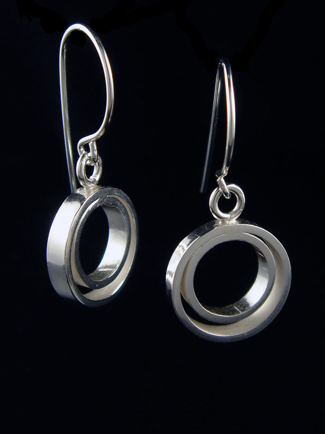 Double Circle Ear Dangles