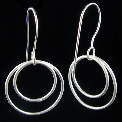 Free-Flowing Sterling Teardrop Circle Bead Dangles