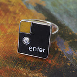 Enter Key with CZ - Size 7.5