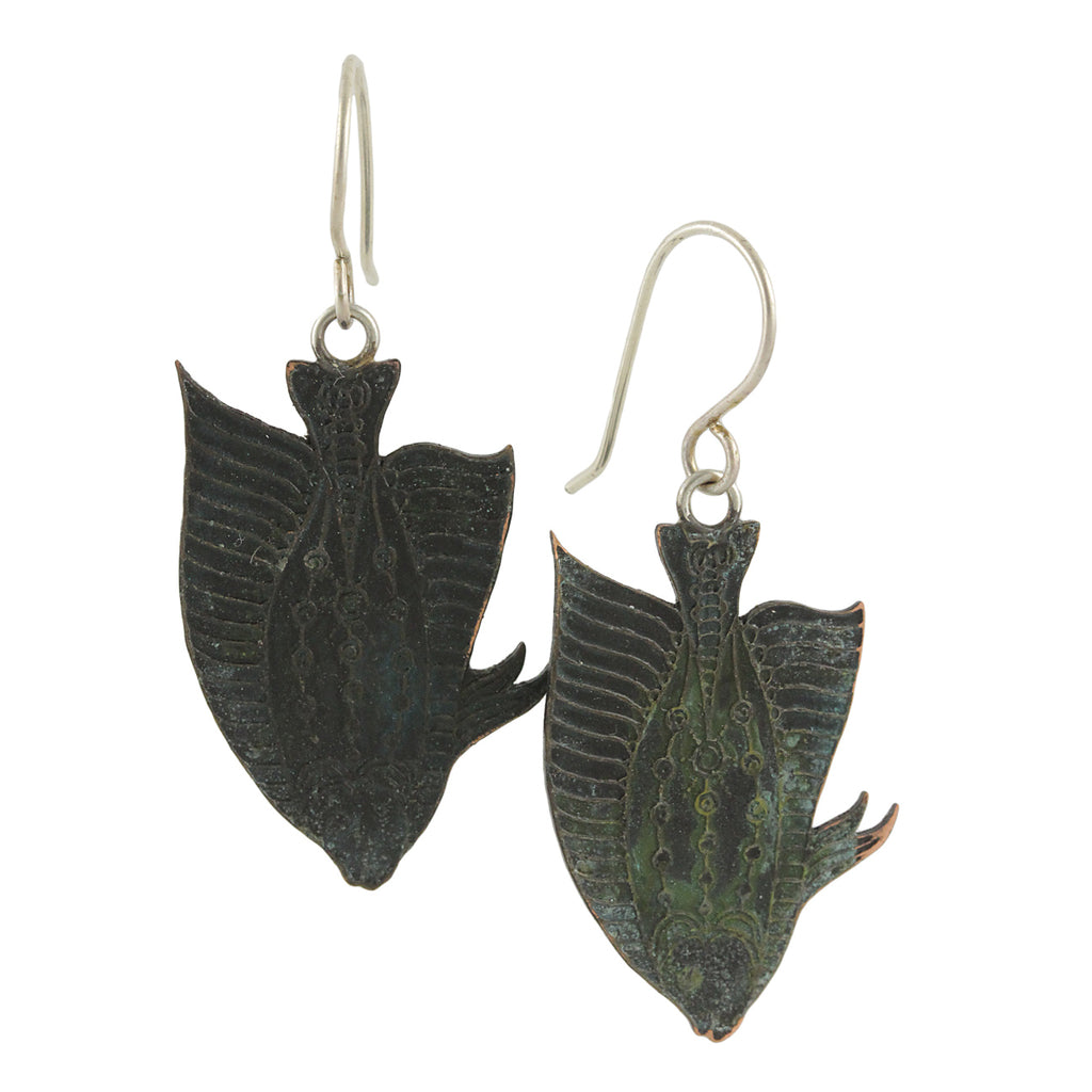 Artful Deep Green Angelfish Dangles