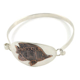 Tropical Fish Link Bangle Cuff Bracelet