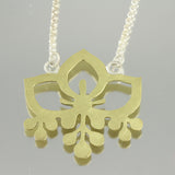 Flower Pendant v1: Brass