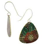 Patina: Tropical Brass Dangle Earrings