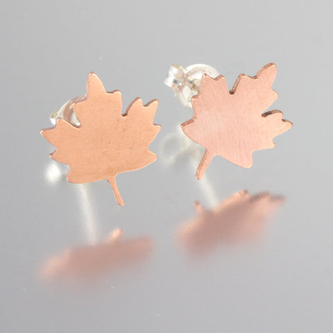 Foliage Sterling Leaf Studs