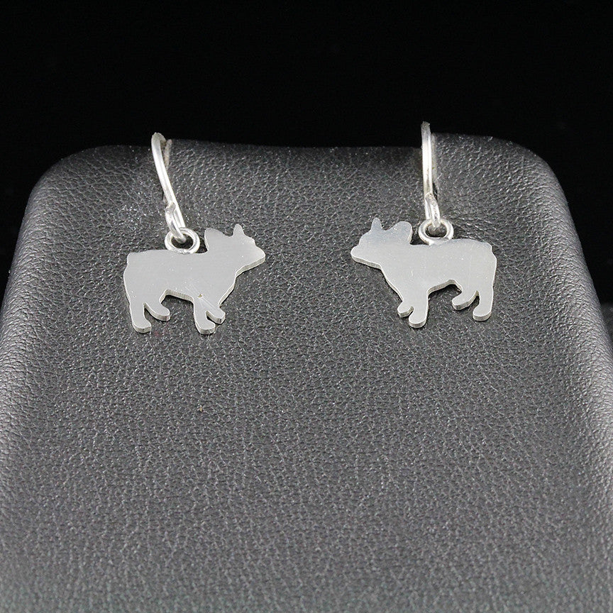 French Bulldog Dangle Earrings