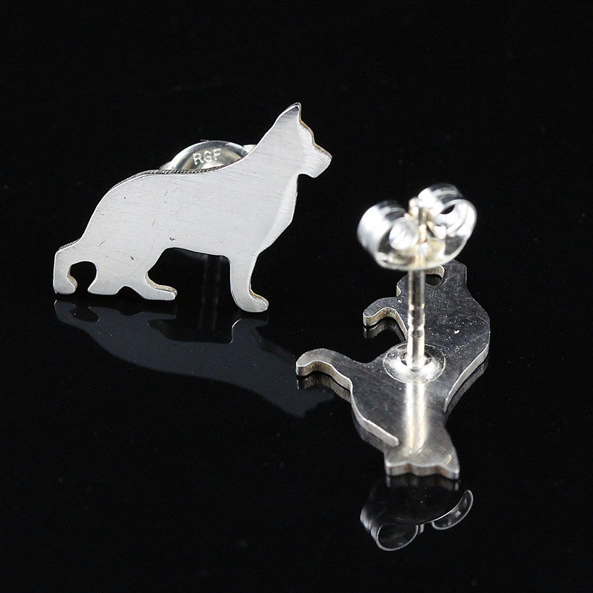 German Shepherd Earring Studs