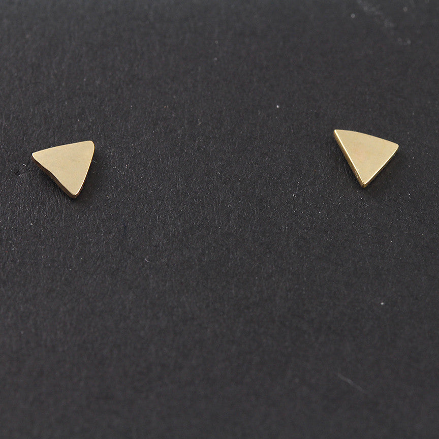 14k Gold Triangle Studs