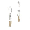 Slice - Silver with 14k Gold Accent Dangles