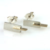 Slice - Silver and 14k Gold Accent Earring Studs