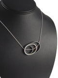 OSO Oval Oval Circle Grayscale Necklace