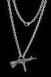 Cast Sterling Gun Pendant