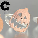 Halloween Pumpkin Pendants and Adjustable Rings