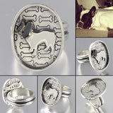 Custom Pet Portrait Oval Ring
