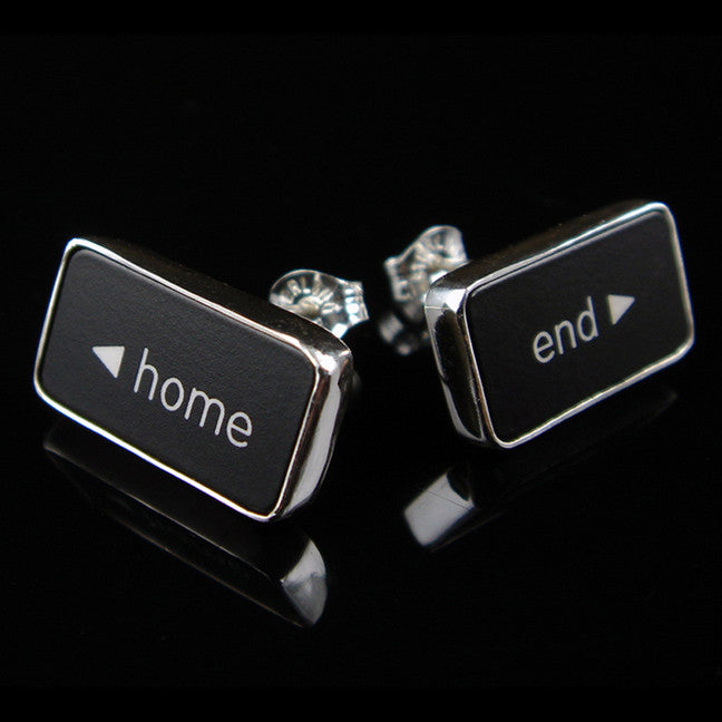 Home End Key Earring Studs