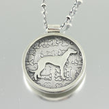 I Love My Greyhound Necklace