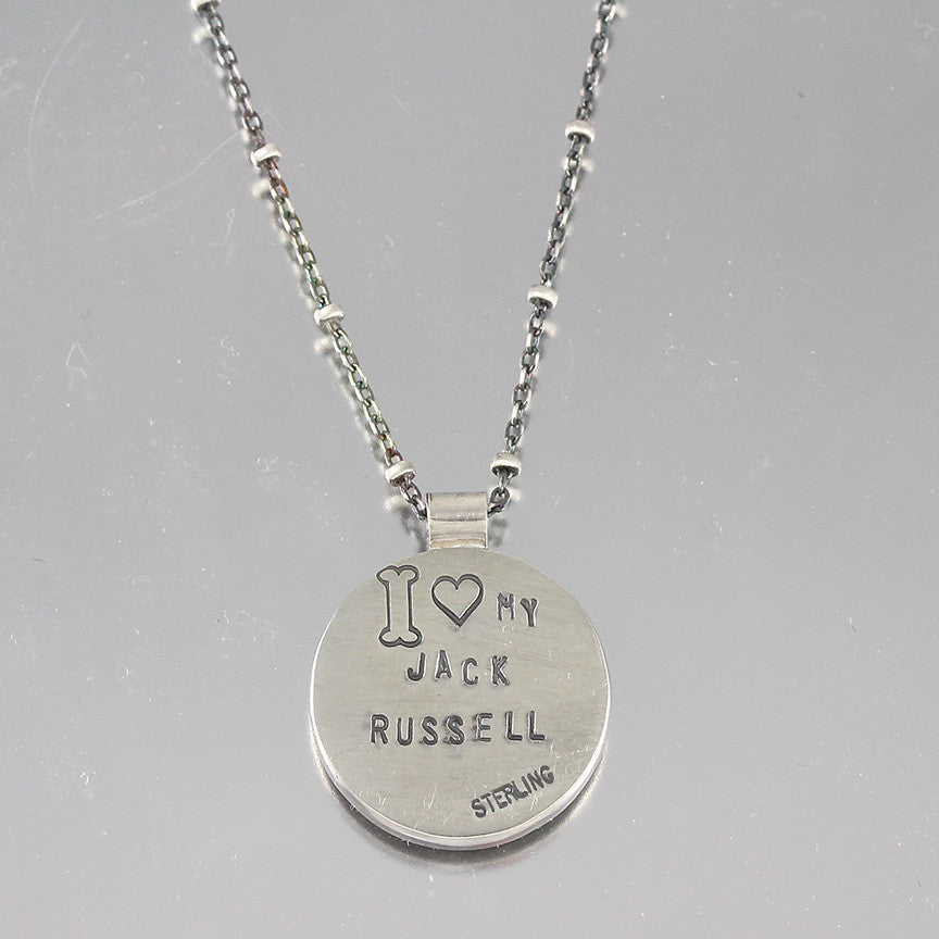 I Love My Jack Russell Terrier Necklace