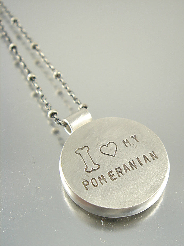 I Love My Pomeranian Necklace