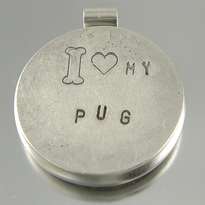 I Love My Pug Necklace