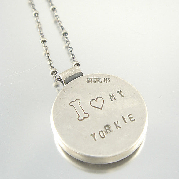 I Love My Yorkie Terrier Necklace