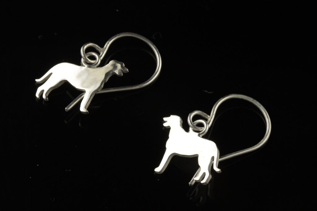 Irish Wolfhound Dangle Earrings