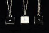 Macbook Letter Initial Necklace - H