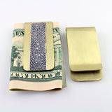 Brass with Sterling Pattern Money Clip