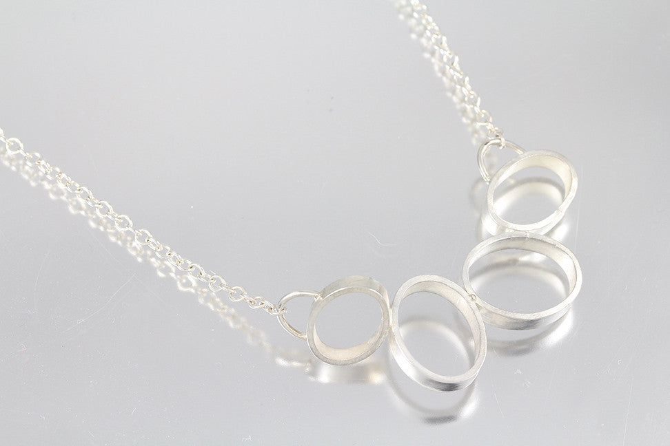 Abstract Oval Necklace