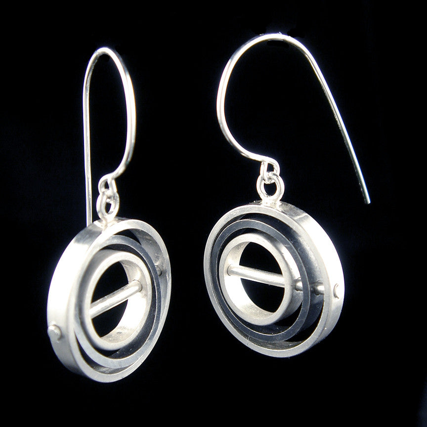 O.C.D. Circle Grayscale Earrings SOS