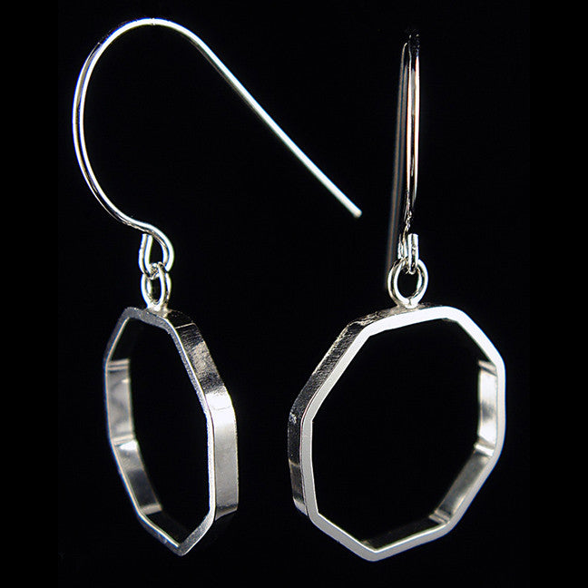 Octagon Dangle Earrings
