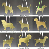 Custom Made to Order Dog Breed Silhouette Ornament