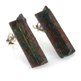 Patina: Abstract Brick Red Splash 3D Studs