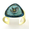 Patina Cuff: Deep Blue, Aquamarine and Aqua Dome
