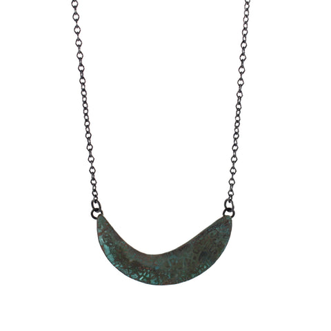 Patina: Purple Silver Textured Pendant
