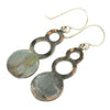 Patina: Rustic Blue Slate Bubble Dangles