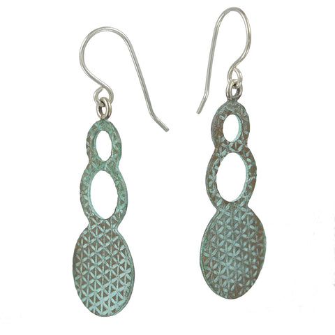 Patina: 3D Blue Cosmic Splash Modern Dangles