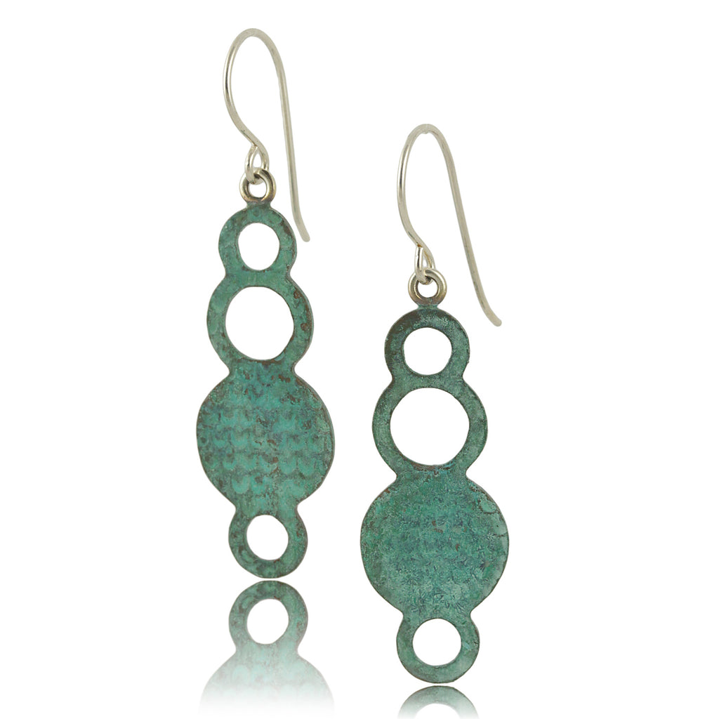 Patina: Turquoise Mermaid Bubble Textured Dangles