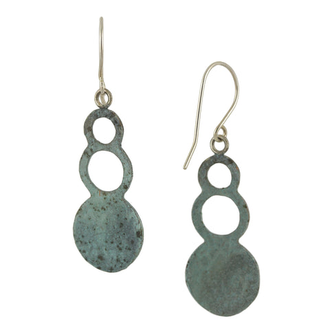 Patina: Rustic Blue-Green Bubble Dangles