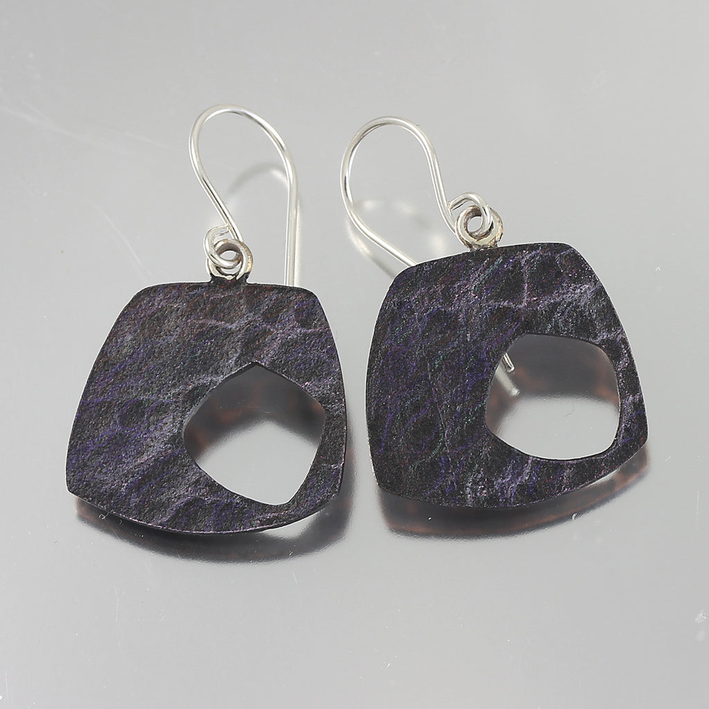 Patina: Water Texture Purple Dangles