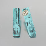 Patina: Abstract Aqua Blue 3D Studs
