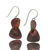 Patina: 3D Flame Red Modern Triangle Dangels