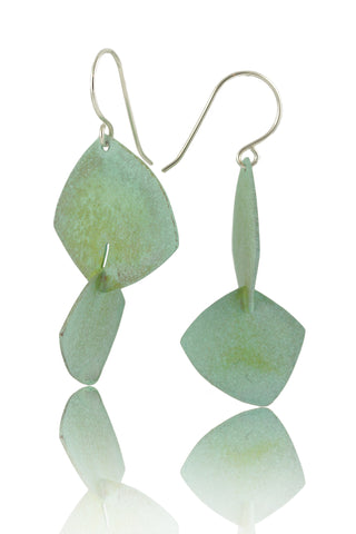 Patina: Rustic Sea Green-Jade Textured Modern Necklace