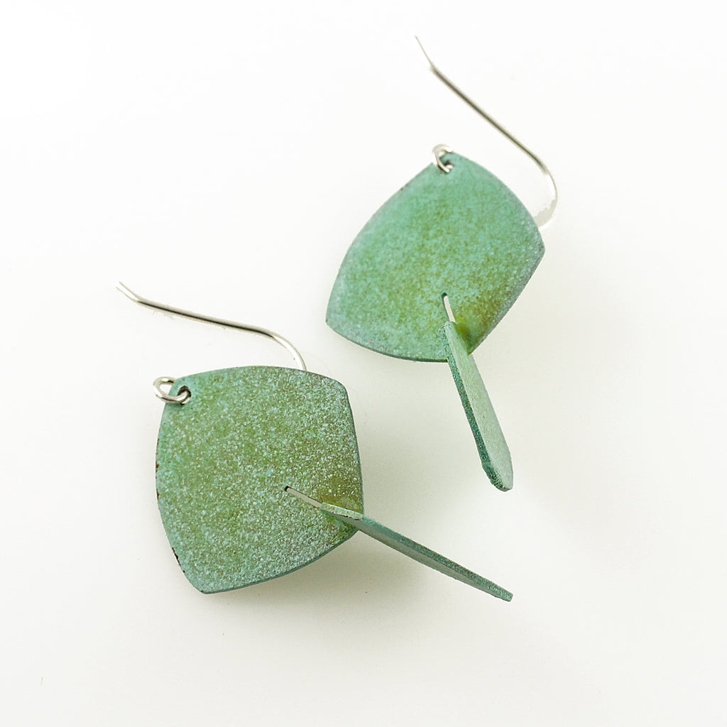 Patina: 3D Mint Aquamarine Modern Dangles