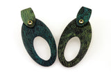 Patina: Spring Green Textured Oval Rivet Studs