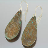 Rustic Orange Teardrop Dangles