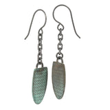 Patina: Rustic Sea Foam Textured Drop-Dangles